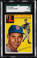 Baseball Cards:Singles (1950-1959), 1954 Topps Ted Williams #250 SGC 80 EX/NM 6.. ...