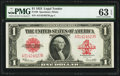 Large Size:Legal Tender Notes, Fr. 40 $1 1923 Legal Tender PMG Choice Uncirculated 63 EPQ...