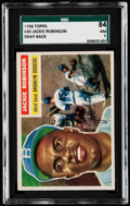 Baseball Cards:Singles (1950-1959), 1956 Topps Jackie Robinson (Gray Back) #30 SGC 84 NM 7.. ...