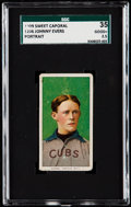 Baseball Cards:Singles (Pre-1930), 1909-11 T206 Sweet Caporal Johnny Evers (Portrait) SGC 35 ...