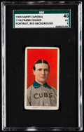 Baseball Cards:Singles (Pre-1930), 1909-11 T206 Sweet Caporal Frank Chance (Portrait, Red Bac...