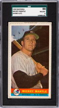 Baseball Cards:Singles (1950-1959), 1959 Bazooka Mickey Mantle SGC 88 NM/MT 8....
