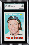 Baseball Cards:Singles (1960-1969), 1967 Topps Mickey Mantle #150 SGC 80 EX/NM 6.. ...