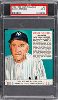 Baseball Cards:Singles (1950-1959), 1952 Red Man (With Tab) Casey Stengel #1A PSA NM 7....