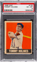 Baseball Cards:Singles (1940-1949), 1948 Leaf Tommy Holmes #133 PSA EX-MT 6. Physicall...