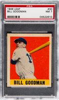 Baseball Cards:Singles (1940-1949), 1948 Leaf Bill Goodman #30 PSA NM 7....