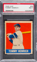 Baseball Cards:Singles (1940-1949), 1948 Leaf Tommy Henrich #55 PSA NM 7....