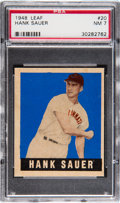 Baseball Cards:Singles (1940-1949), 1948 Leaf Hank Sauer #20 PSA NM 7....