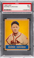 Baseball Cards:Singles (1940-1949), 1948 Leaf George Kurowski #81 PSA NM 7....