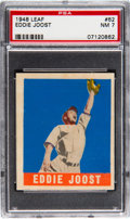 Baseball Cards:Singles (1940-1949), 1948 Leaf Eddie Joost #62 PSA NM 7. Scarce short p...