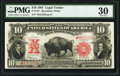 Large Size:Legal Tender Notes, Fr. 122* $10 1901 Legal Tender PMG Very Fine 30.. ...