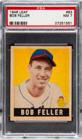 Baseball Cards:Singles (1940-1949), 1948 Leaf Bob Feller #93 PSA NM 7....