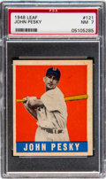 Baseball Cards:Singles (1940-1949), 1948 Leaf John Pesky #121 PSA NM 7....
