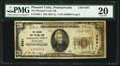 National Bank Notes:Pennsylvania, Pleasant Unity, PA - $20 1929 Ty. 1 The Pleasant Unity NB Ch. #6581. ...