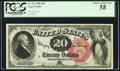 Large Size:Legal Tender Notes, Fr. 134 $20 1880 Legal Tender PCGS Choice About New 58.. ...