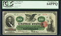 Large Size:Legal Tender Notes, Fr. 95b $10 1863 Legal Tender PCGS Very Choice New 64PPQ.. ...