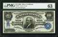 Large Size:Silver Certificates, Fr. 302 $10 1908 Silver Certificate PMG Choice Uncirculated 63.. ...