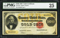 Large Size:Gold Certificates, Fr. 1212 $100 1882 Gold Certificate PMG Very Fine 25.. ...