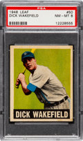 Baseball Cards:Singles (1940-1949), 1948 Leaf Dick Wakefield #50 PSA NM-MT 8....
