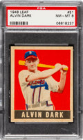 Baseball Cards:Singles (1940-1949), 1948 Leaf Alvin Dark #51 PSA NM-MT 8 - Pop Five, One Higher....