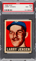 Baseball Cards:Singles (1940-1949), 1948 Leaf Larry Jensen #56 PSA NM-MT 8 - Only One Higher....