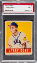 Baseball Cards:Singles (1940-1949), 1948 Leaf Larry Doby #138 PSA NM 7....