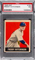 Baseball Cards:Singles (1940-1949), 1948 Leaf Freddy Hutchinson #163 PSA NM 7 Pop Three, Three Higher....