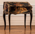 Furniture , A French Louis XV-Style Chinese Lacquered and Gilt Bronze-Mounted Bureau de Dame, late 19th century. 35-1/4 h x 32 w x 18-3/...