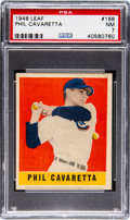 Baseball Cards:Singles (1940-1949), 1948 Leaf Phil Cavaretta #168 PSA NM 7....