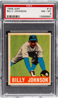 Baseball Cards:Singles (1940-1949), 1948 Leaf Billy Johnson #14 PSA NM-MT 8. Graded