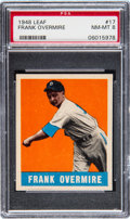 Baseball Cards:Singles (1940-1949), 1948 Leaf Frank Overmire #17 PSA NM-MT 8....