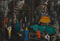 Fine Art - Painting, European:Contemporary   (1950 to present)  , Nicola Ortis Poucette (French, 1935-2006). Monte CarloCasino. Oil on paper. 14-3/4 x 21-7/8 inches (37.5 x 55.6 cm).Si...