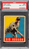 Baseball Cards:Singles (1940-1949), 1948 Leaf Sid Hudson #84 PSA NM-MT 8....