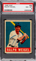 Baseball Cards:Singles (1940-1949), 1948 Leaf Ralph Weigel #86 PSA NM-MT 8....