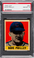 Baseball Cards:Singles (1940-1949), 1948 Leaf Dave Philley #85 PSA NM-MT 8 - Only One Higher. ...