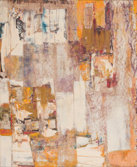 Nielsen (20th Century) Abstract Composition, 1961 Mixed media on board 29-1/2 x 23 inches (74.9 x