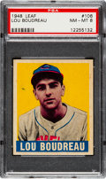 Baseball Cards:Singles (1940-1949), 1948 Leaf Lou Boudreau #106 PSA NM-MT 8....