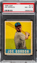 Baseball Cards:Singles (1940-1949), 1948 Leaf Joe Gordon #117 PSA NM-MT 8 - None Higher....