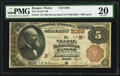 National Bank Notes:Maine, Bangor, ME - $5 1882 Brown Back Fr. 472 The Veazie NB Ch. #(N)2089. ...