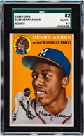 Baseball Cards:Singles (1950-1959), 1954 Topps Hank Aaron #128 SGC 82 EX/NM+ 6.5. Ther...