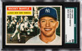Baseball Cards:Singles (1950-1959), 1956 Topps Mickey Mantle (Gray Back) #135 SGC 84 NM 7....