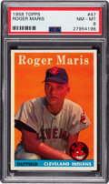 Baseball Cards:Singles (1950-1959), 1958 Topps Roger Maris #47 PSA NM-MT 8....