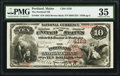 National Bank Notes:Maine, Portland, ME - $10 1882 Brown Back Fr. 484 The Portland NB Ch. #4128. ...