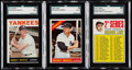 Baseball Cards:Lots, 1964-67 Topps Mickey Mantle SGC Graded Trio (3).. ...