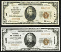 National Bank Notes:Wisconsin, Madison, WI - $20 1929 Ty. 1 The First NB Ch. # 144;. Milwaukee, WI- $20 1929 Ty. 1 The NB of Commerce Ch. # 68... (Total: 2 notes)