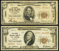 National Bank Notes:Missouri, Saint Louis, MO - $5 1929 Ty. 2 The Security NB Savings & TCCh. # 12066;. Saint Louis, MO - $10 1929 Ty. 2 The Gr... (Total: 2notes)