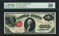 Large Size:Legal Tender Notes, Fr. 37 $1 1917 Legal Tender PMG Very Fine 30.. ...