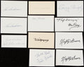 Autographs:Index Cards, Baseball Greats Signed Index Card Collection (11).. ...