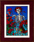Music Memorabilia:Original Art, Grateful Dead Skull and Roses Print Signed by Stanley Mouse....