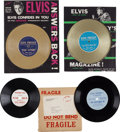 """Music Memorabilia:Recordings, Elvis Presley """"The Truth About Me"""" and """"Speak-In Person"""" InterviewDiscs And Related Memorabilia (1950s).... (Total: 7 Items)"""